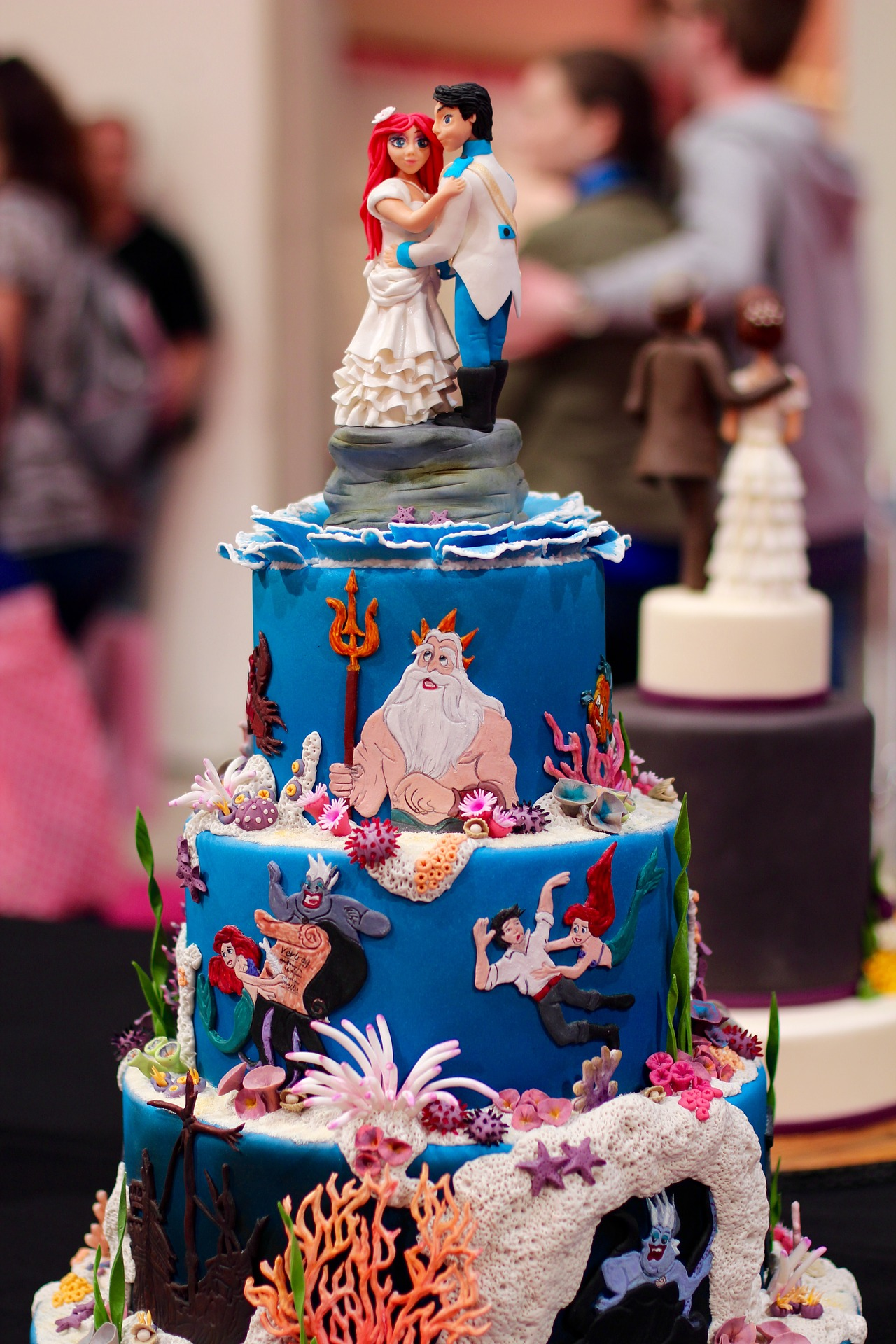 Wedding Cake Tematic Little Mermaid