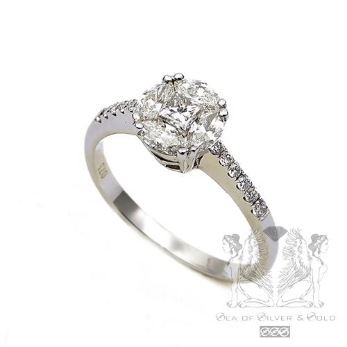 годежни пръстени с диаманти